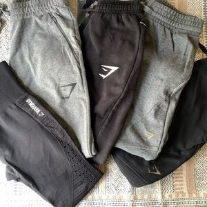Gymshark LOT 5 black gray leggings sweat pants S